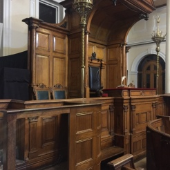 Judge's seat and where accused spoke