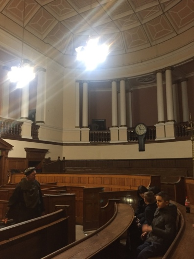 Courtroom and public seating