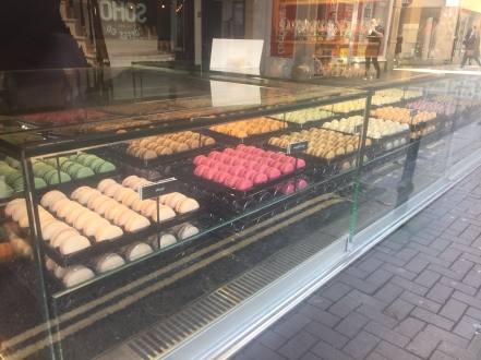 expensive macaroon galore in Bath