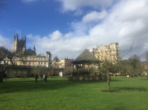 other side of the lovely park in Bath