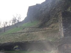 more of the rock and some of the castle