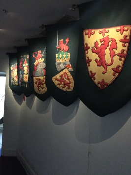 progression of the suit of arms over time (closest is the oldest)
