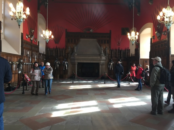 great hall at the castle